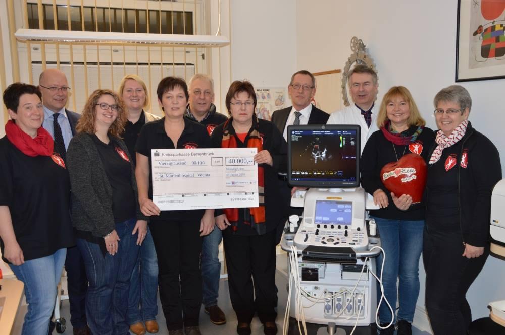 40.000 € für ein Ultraschallgeräts für das Marienhospital Vechta